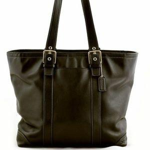 Vintage Coach Hamptons Lunch Black Tote Bag